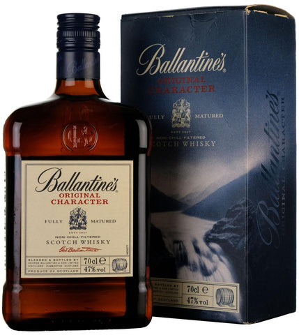 ballantine's original character blended scotch whisky whiskey