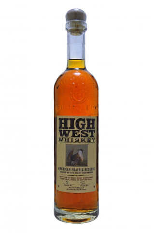 high west whiskey american prairie reserve blend of straight bourbon whiskey whisky