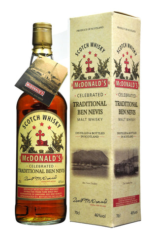 ben nevis traditional, macdonald's, single malt scotch malt whisky
