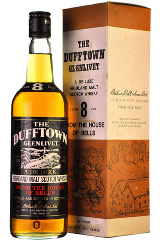 dufftown-glenlivet 8 year old, 70 proof, speyside single malt scotch whisky whiskey