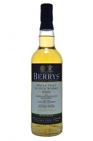 linkwood 1993 - 19 year old - berry bros & rudd whisky