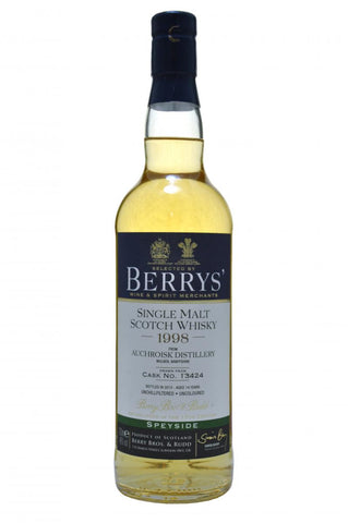 auchroisk 1998 - 14 year old - berry bros & rudd whisky