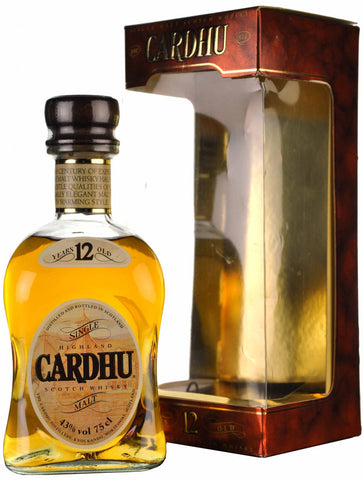 cardhu 12 year old early 1990s, speyside single malt scotch whisky