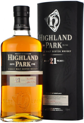highland park 21 year old, island single malt scotch whisky