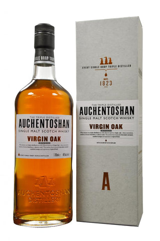 auchentoshan virgin oak, limited release, lowland single malt scotch whisky