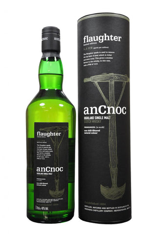 an cnoc flaughter limited edition, speyside single malt scotch whisky
