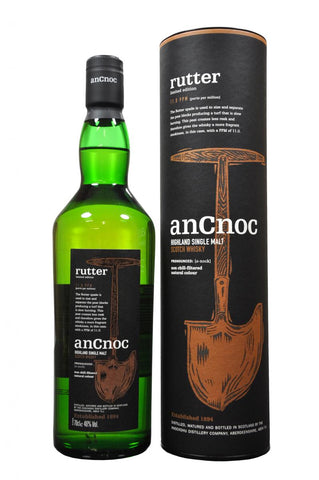 an cnoc rutter limited edition, speyside single malt scotch whisky