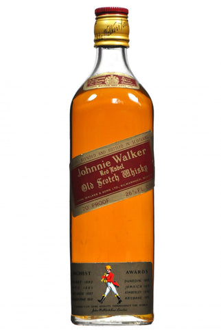 johnnie walker red label 1970s, blended scotch whisky