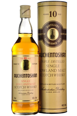 auchentoshan 10 year old 1980s, lowland single malt scotch whisky