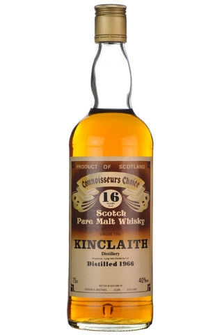 kinclaith 1966, 16 year old, connoisseurs choice 1980s, lowland single malt scotch whisky