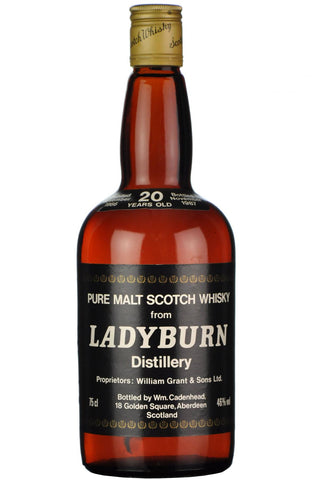 ladyburn 1966-1987, 20 year old, cadenhead dumpy, lowland single malt scotch whisky whiskey
