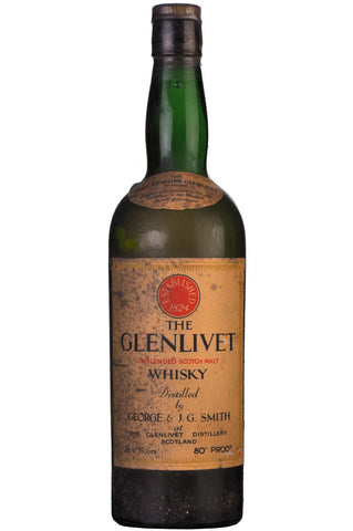 glenlivet unblended 1950s speyside single malt scotch whisky