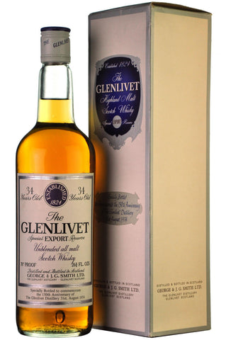 glenlivet 34 year old, 150th anniversary, speyside single malt scotch whisky