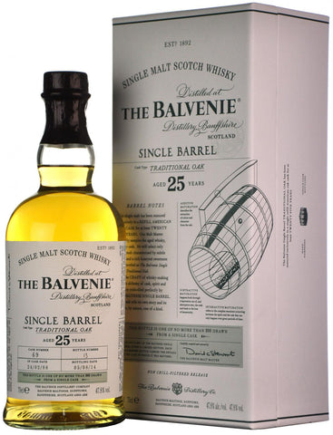 balvenie 1988-2014, 25 year old single barrel 69, speyside single malt scotch whisky