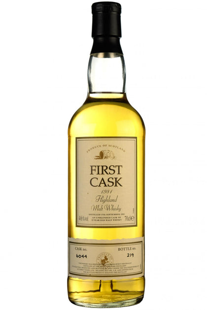 highland park 1981, 23 year old, first cask 6044, single malt scotch whisky