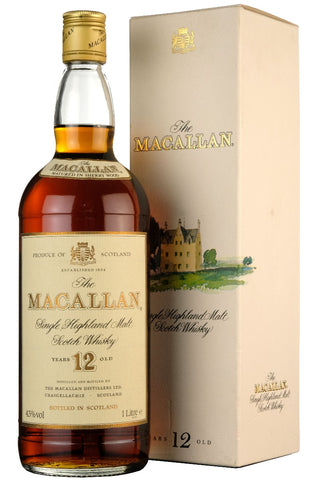 macallan 12 year old sherry cask, speyside single malt scotch whisky, whiskey