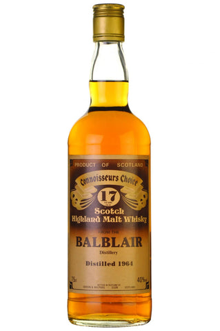balblair 1964 - 17 year old - connoisseurs choice 1980s gordon and macphail, highland single malt scotch whisky
