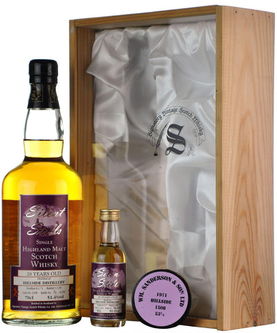hillside 1971-2000, 28 year old, silent stills cask 1508 signatory vintage, highland single malt scotch whisky