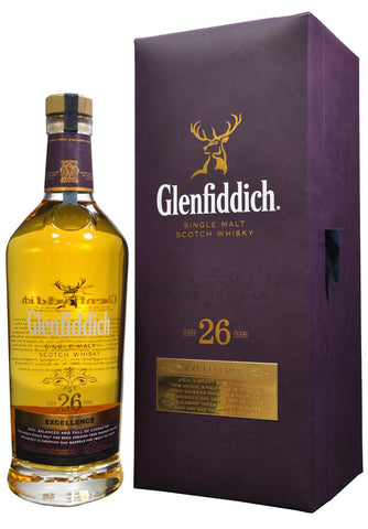 glenfiddich 26 year old excellence, speyside single malt scotch whisky
