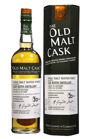 Glen Keith 1993-2013 20 year old malt cask by hunter laing