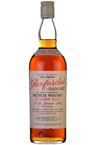 glenfarclas 8 year old 1970s, speyside single malt scotch whisky