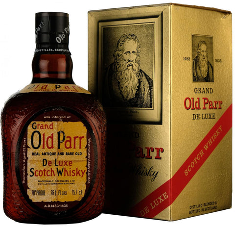 grand old parr, deluxe scotch whisky,