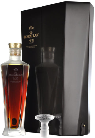 macallan number 6, lalique decanter, speyside single malt scotch whisky,
