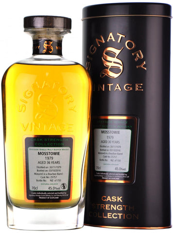 mosstowie 1979, 36 year old, signatory vintage cask 25757,