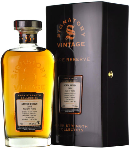 north british 1959, 51 year old, signatory vintage cask 67876,