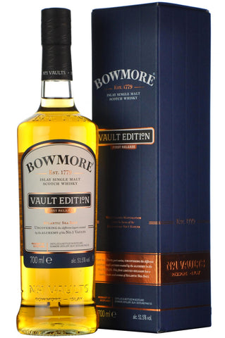 bowmore vaults edition, first release, islay single malt scotch whisky,