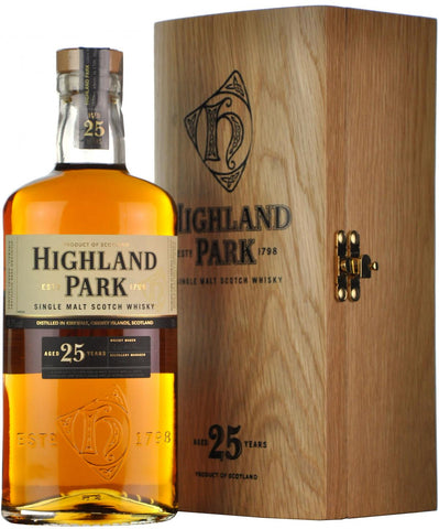 highland park 25 year old, island single malt scotch whisky,