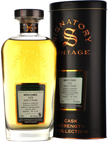 mosstowie 1979, 37 year old, signatory vintage cask 14574,