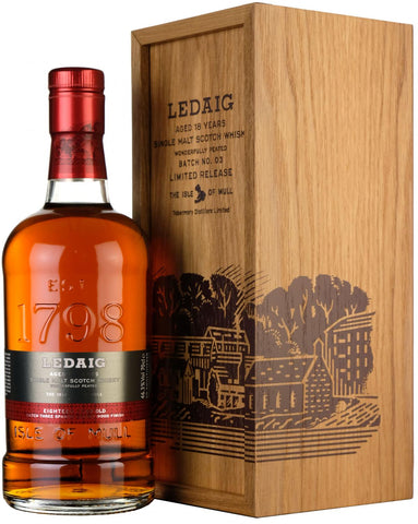 ledaig 18 year old, small batch number 3, spanish sherry casks,