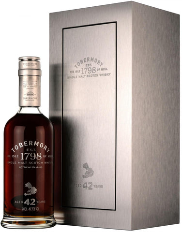 tobermory 1973, 42 year old, isle of mull, single malt scotch whisky,