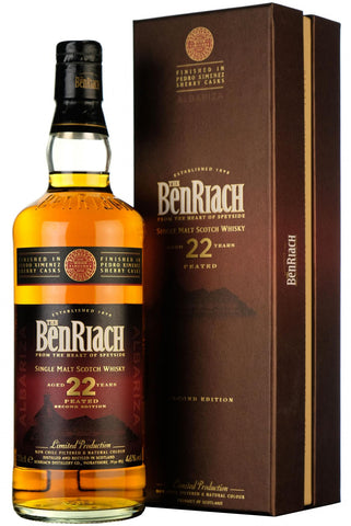 benriach 22 year old, finished in pedro ximenez sherry casks,