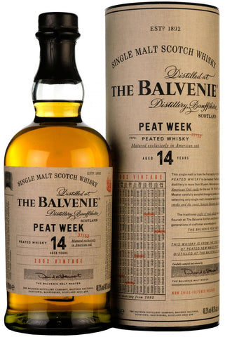 balvenie peat week, 2002, 14 year old