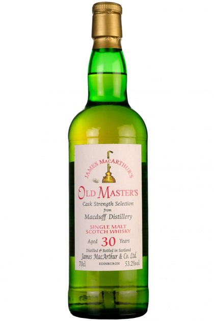 macduff 30 year old, james macarthurs, old masters, cask strength, closed distillery,