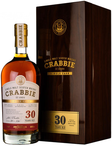crabbie 30 year old, single cask, sherry butt,