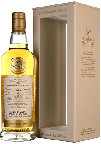 dailuaine 1998, connoisseurs choice, gordon and macphail whisky,