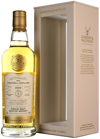 strathmill 2004, 13 year old, connoisseurs choice, gordon and macphail whisky,