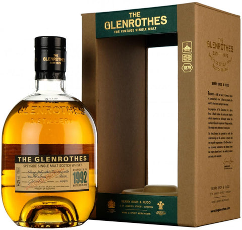 glenrothes 1992 vintage, second edition, distilled 1992, bottled 2015