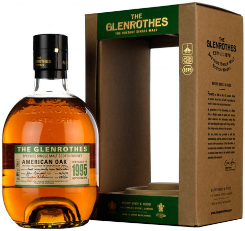 glenrothes american oak, distilled 1995, bottled 2016