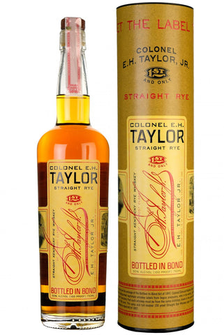 E.H. taylor straight rye kentucky straight bourbon whiskey whisky american