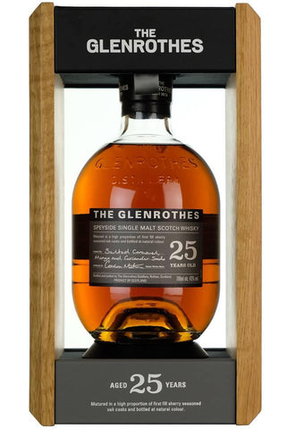 glenrothes 25 years old, speyside single malt scotch whisky whiskey sherry
