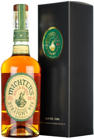 michters small batch us number 1 one, kentucky straight rye america american whiskey