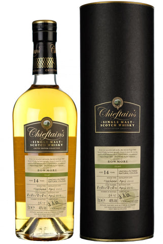 bowmore 14 year old chieftains islay single malt scotch whisky whiskey