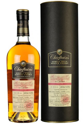 dalmore 13 year old chieftains single cask highland single malt scotch whisky whiskey