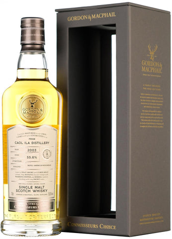 Caol Ila 2003 14 year old connoisseurs choice, cask strength, gordon and macphail islay single malt scotch whisky whiskey