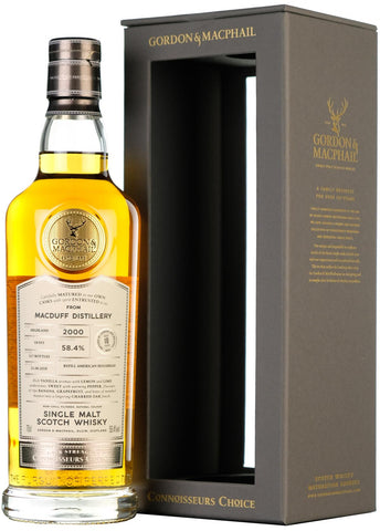 Macduff 2000 18 year old connoisseurs choice, cask strength, gordon and macphail highland single malt scotch whisky whiskey