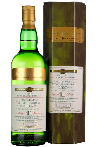2007 royal brackla 11 year old single cask old malt cask 20th anniversary hunter laing highland single malt scotch whisky